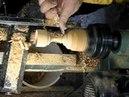 Woodturning a tealight holder