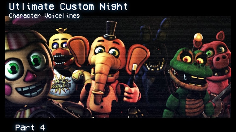 [SFMFNAF] Ultimate Custom Night All Voice Lines For Animatronics Animated Part 4