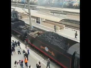 Ретро-поезд Победа прибыл в Краснодар