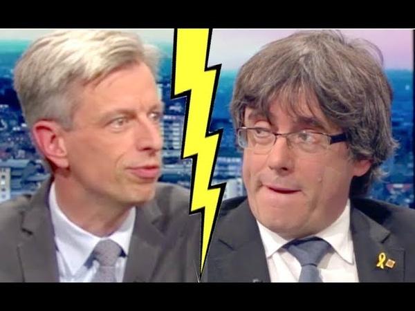 SALVAJE entrevista a Puigdemont en la TV belga