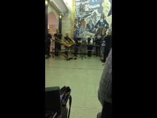 Концерт в метро. Станция Адмиралтейская (фрагмент)