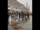 غروب الخامس من رمضان من رحاب المسجد النبوي الشريف