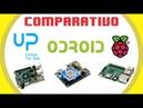 UP Board x Raspberry Pi3 x Odroid XU4 - Comparativo - Placas 01