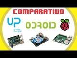 UP Board x Raspberry Pi3 x Odroid XU4 - Comparativo - Placas #01