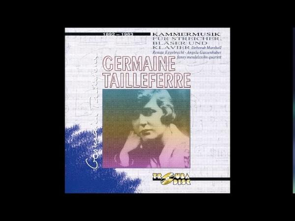 Germaine Tailleferre (1916 rev 1978) Trio pour piano violon et violoncelle