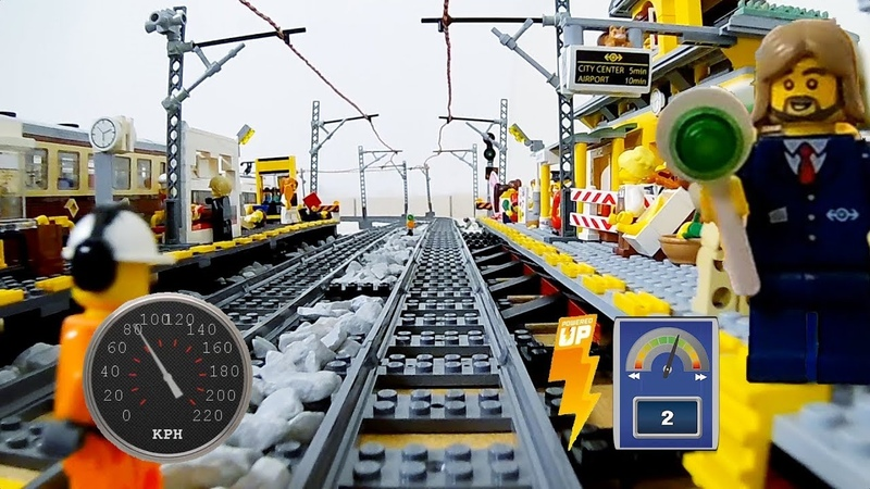Lego high speed train - front camera FPV onboard camera NEW train 60197
