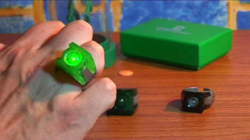 Обзор на кольца по фильму Зелёный фонарь. Green lantern, movie rings