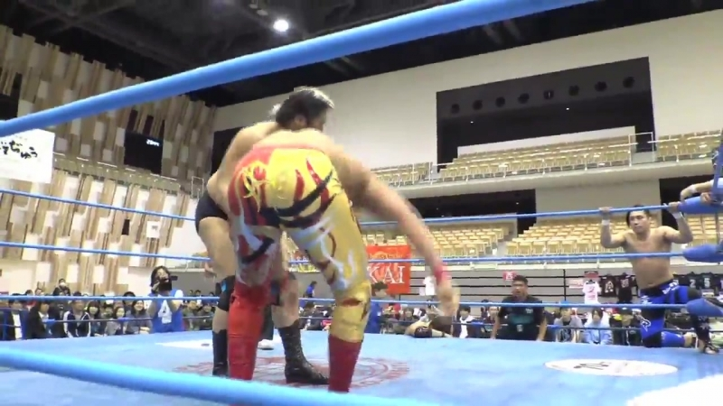 Josh Bodom, Kento Miyahara, Naoya Nomura, Yohei Nakajima vs. Atsushi Aoki, Hikaru Sato, Shuji Ishikawa, Suwama (AJPW)