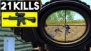 M4 6x SCOPE IN CLOSE FIGHT OP 21 KILLS SOLO vs SQUAD PUBG Mobile