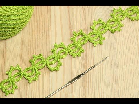 Вязание крючком ленточного ажурного кружева - crochet lace