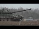 Контрольные стрельбы экипажей танков Т-72 окружного учебного центра ЗВО