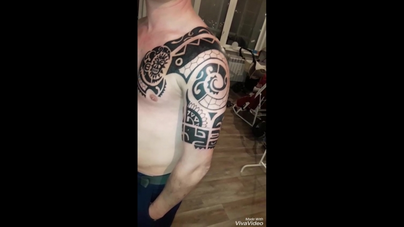 3 сеанса и вот Полинезия готова всем такого терпения как у хозяина этой тату супер тату тату иркутск иркутск