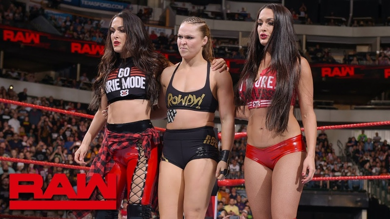 Ronda Rousey The Bella Twins fight off The Riott Squad Raw Sept 17 2018