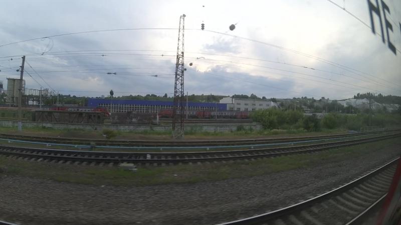 Перегон Белгород―о.п.Белая Гора в вагоне электропоезда ЭД4М-0166