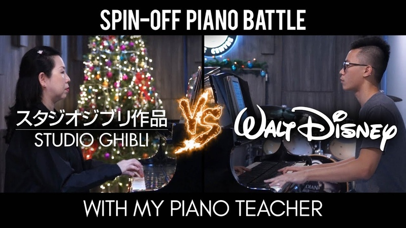 Ghibli vs Disney - Spin-Off Piano Battle Mashup/Medley with my piano teacher (Piano Cover)