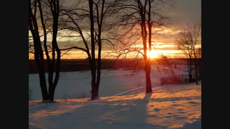 Котельнич. Удивительный закат над Вяткой 1 декабря.