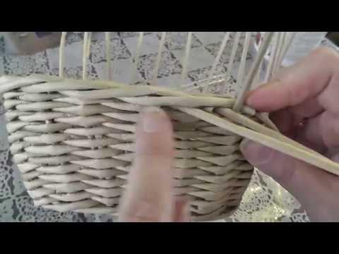 Загибка РОЗГА Плетение из газетных трубочек