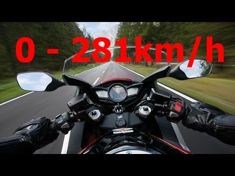 Honda VFR1200F - Acceleration 0-281km/h Startup Exhaust Sound Burnout Top Speed