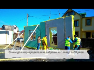 Процесс строительства каркасного дома по проекту Z29