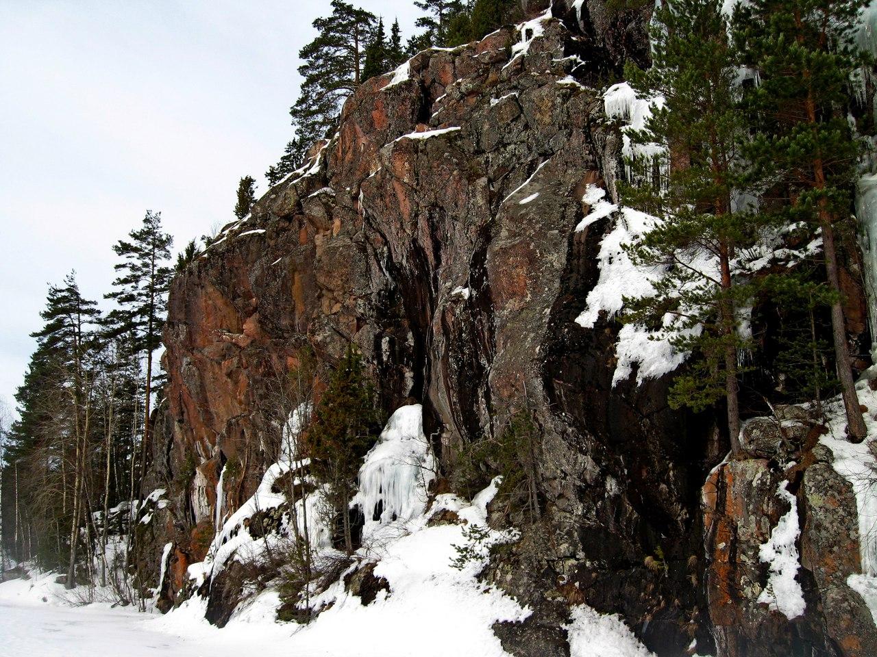 По Карелии в марте. Прогулка по льду в Ладожских шхерах.