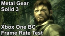 Metal Gear Solid 3 Xbox One X vs Xbox One vs Xbox 360 Backwards Compatibility Frame Rate Comparison