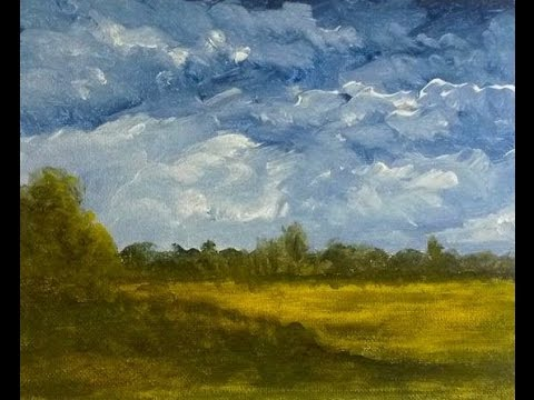Learn How to Paint: Autumn Field (Basic Acrylic), 8 x 10 in.