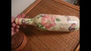How to Decoupage and Ornament Glass Bottle - Upcycling Project -- 4