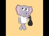 Слоник проба ходьбы.