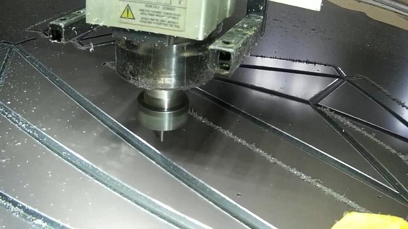 Фрезеровка композита ( Фреза V-образная пазовая ATV 135 градусов )