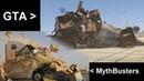 MythBusters VS Gta V - Truck wedge scene remake