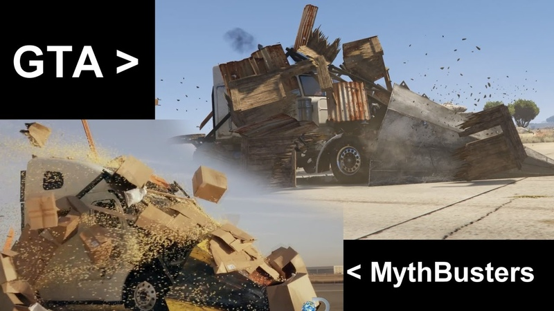 MythBusters VS Gta V - Truck wedge scene remake