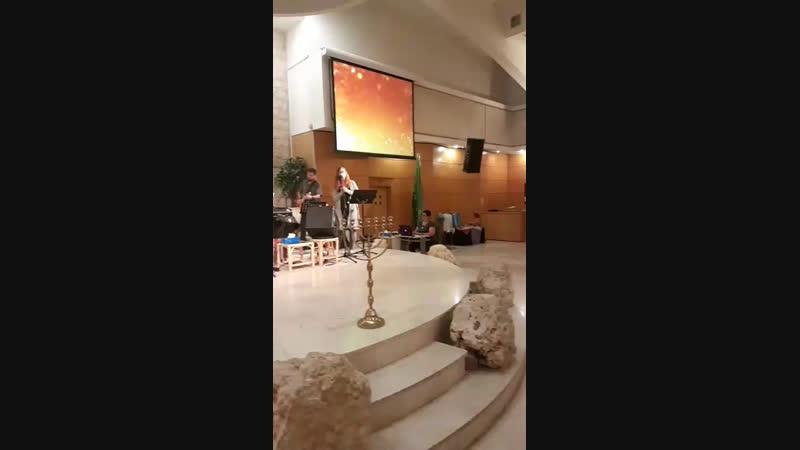 Вечер Хвалы и поклонения в общине Кахелат Карамель в г. Хайфе 18.10.18