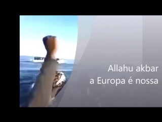 Mittelmeer - Illegale rufen vor Aufnahme durch Frontex-Schiffe - Allahu Akbar! Europa gehört uns!