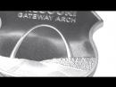 1 oz Silver Icons of Route 66 Shield Missouri Gateway Arch
