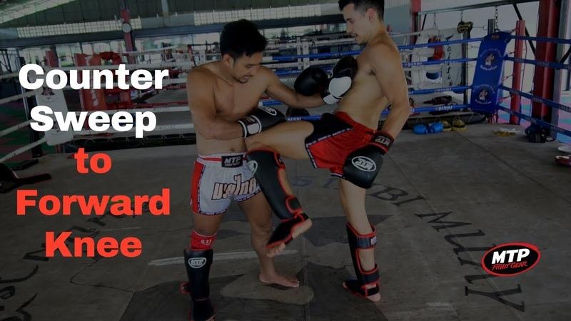 Advanced Muay Thai Sweep Counter Sweep to Forward Knee