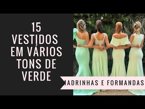 15 vestidos de festa verde