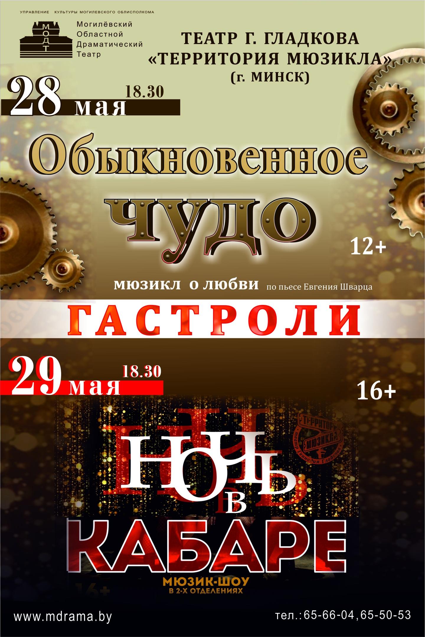 Гастроли Театр ТЕРРИТОРИЯ МЮЗИКЛА