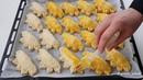 Турецкая дрожжевая погача пирожки с сыром Akşamdan yoğurup sabaha pişirin 👌şipşak buzluk poğaçasını birde bu şekille deneyin