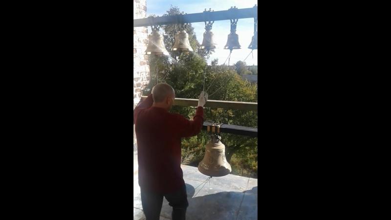 Колокольный звон в Свято-Покровском храме села Гришино