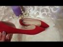 Красные балетки лодочки 42