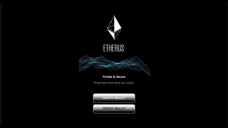 Как открыть и сохранить данные кошелька Etherus