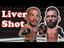 Jose Aldo finishes Jeremy Stephens with an IRON SHOT to the Liver