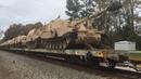 NS O56 Military Train speeds down the SC line through Gadsden, SC over S. Cedar Creek Rd.