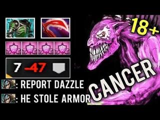 MOST BRUTAL 18+ BUILD EVER -50 Armor Bad Juju All Team Dazzle Mid Deso Cancer 7.20 Dota 2