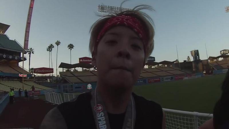 LA Dodgers Stadium Spartan Race Shenanigans! ( MikeBowShow, Justin Park, Julia