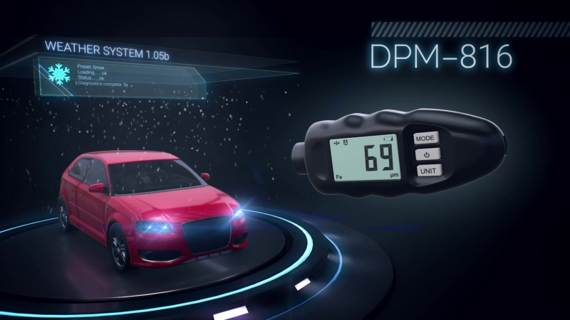 Толщиномер, Измеритель толщины покрытий DPM816Pro