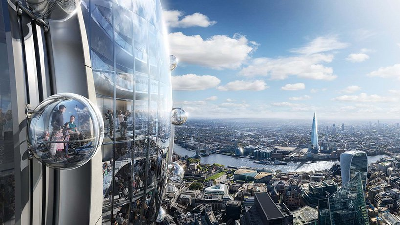 Foster   Partners unveils 'the tulip', a 305-meter-tall visitor attraction planned for London