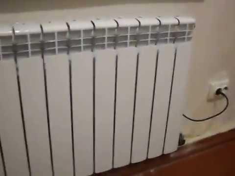 Использование электрического алюминиевого радиатора отопления