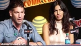 Elektra Elodie Yung &amp Jon Bernthal Frank Castle Punisher talks Daredevil at New York Comic Con 2015