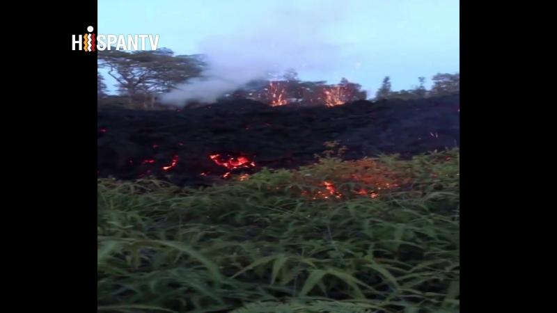 El volcán Kilauea entra en erupción por un nuevo terremoto